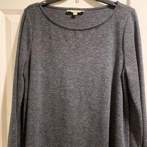 LOFT long sleeve gray sweater